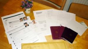 Visaunterlagen