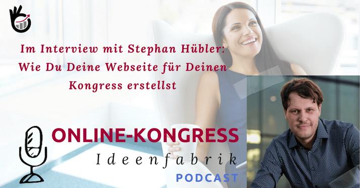 Stephan Hübler spricht bei Swantje über die Betreuung von Online-Kongressen als Webmaster