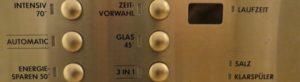 Spülmaschine Schaltflächen